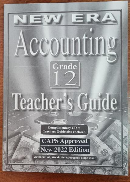 New Era Accounting Grade 12 Teachers Guide