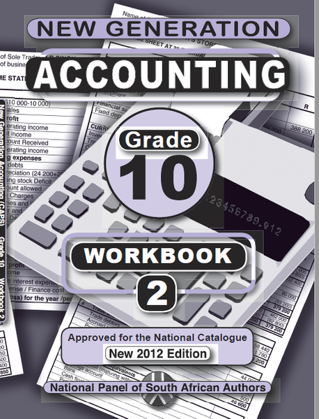 New Generation Accounting  Grade 10 Exercise Book 2 (Learner Book Combo) (3 Year License)