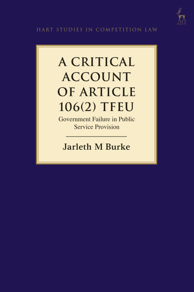 Picture of A Critical Account of Article 106(2) TFEU