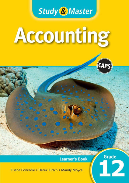Study & Master Accounting Grade 12 Learners Book (1 year) Enhanced Digital Edition