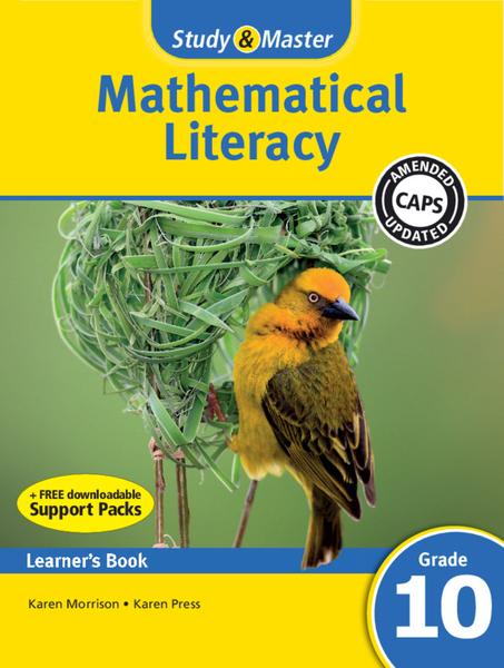 Study & Master Mathematical Literacy Grade 10 Learners Book (1 year) Enhanced Digital Edition