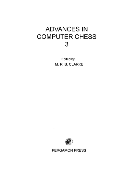 Picture of Advances in Computer Chess