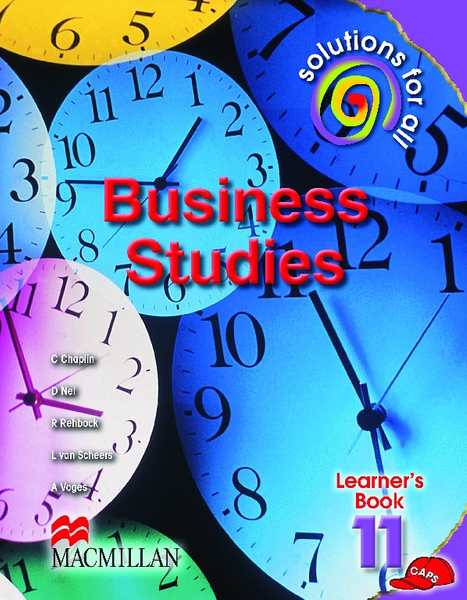 Solutions for all Business Studies Grade 11 Learner's Book