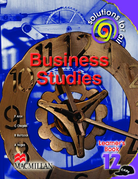 Solutions for all Business Studies Grade 12 Learner's Book