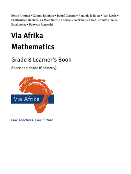 Via Afrika Mathematics Grade 8 Learner's Book: Space and shape (Geometry)