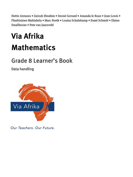 Via Afrika Mathematics Grade 8 Learner's Book: Data handling