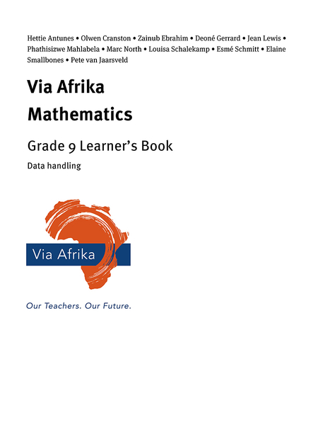 Via Afrika Mathematics Grade 9 Learner's Book: Data handling