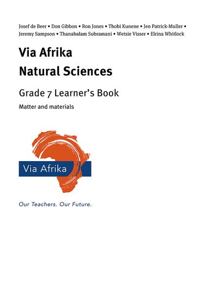 Via Afrika Natural Sciences Grade 7: Matter and materials