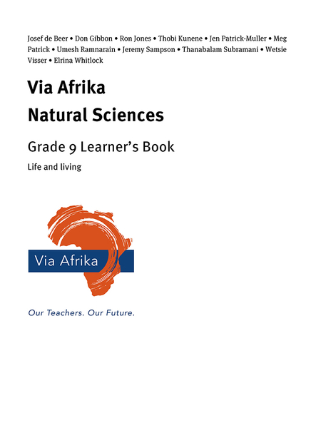 Via Afrika Natural Sciences Grade 9: Life and living