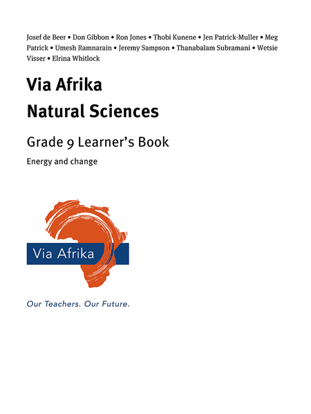 Via Afrika Natural Sciences Grade 9: Energy and change