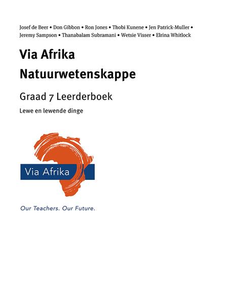 Via Afrika Natuurwetenskappe Graad 7 Leerderboek: Lewe en lewende dinge
