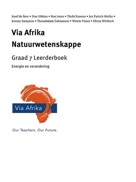 Via Afrika Natuurwetenskappe Graad 7 Leerderboek: Energie en verandering