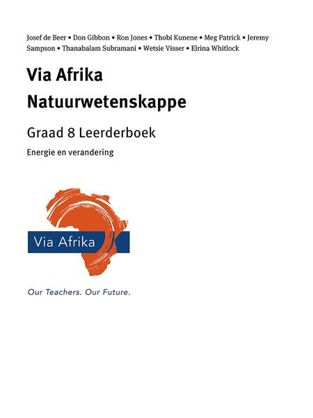 Via Afrika Natuurwetenskappe Graad 8 Leerderboek: Energie en verandering