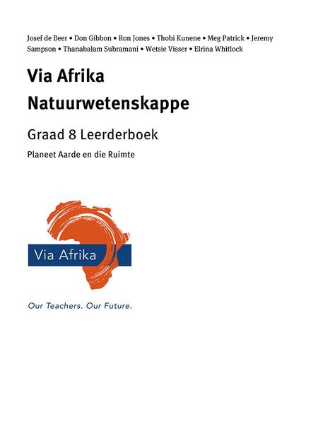 Via Afrika Natuurwetenskappe Graad 8 Leerderboek: Planeet Aarde en die Ruimte
