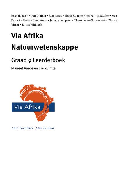 Via Afrika Natuurwetenskappe Graad 9 Leerderboek: Planeet Aarde en die Ruimte
