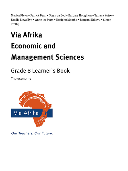 Via Afrika Economic and Management Sciences Grade 8: The economy